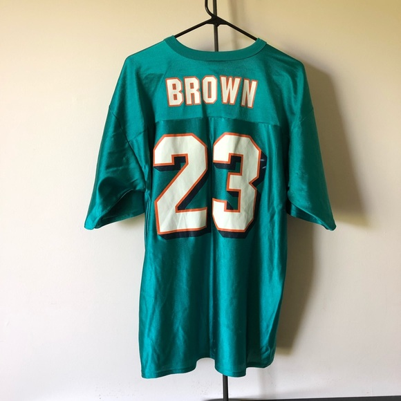 221a848b NFL Miami Dolphins Football Jersey #23 Brown Large